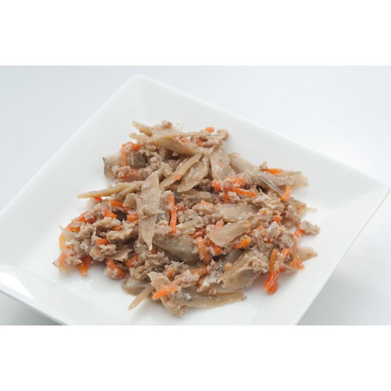 冷凍 ごぼうと豚挽肉の炒め煮